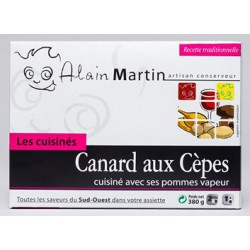 Canard aux cèpes et ses pommes vapeur